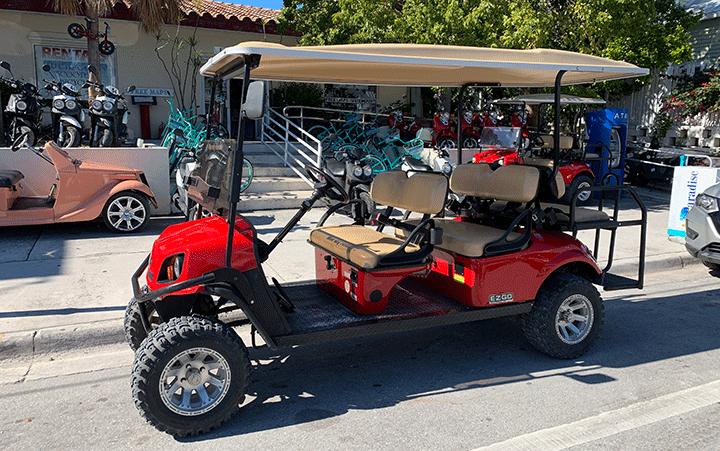 gas golf cart-Blue Sky Rentals-Scooters-Golf Carts-Bikes-Key West Florida