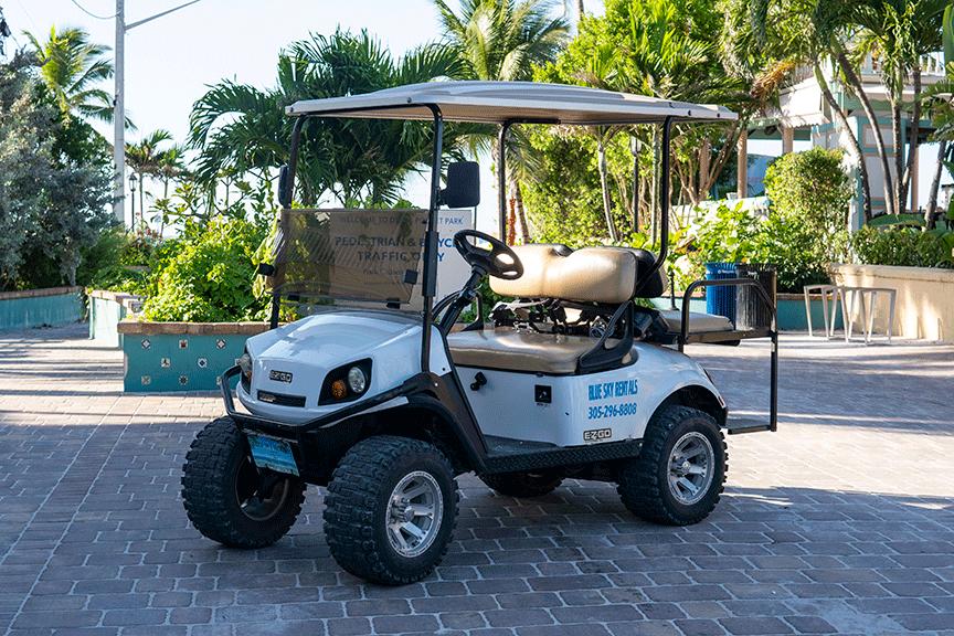Four Seat Gas Golf Cart Rentals-Blue Sky Rentals-Key West, Florida